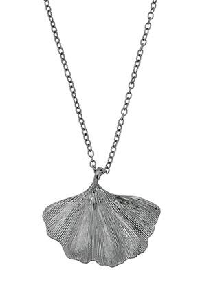 www.misstella.es - Collar con colgante hoja de ginkgo 45-50cm