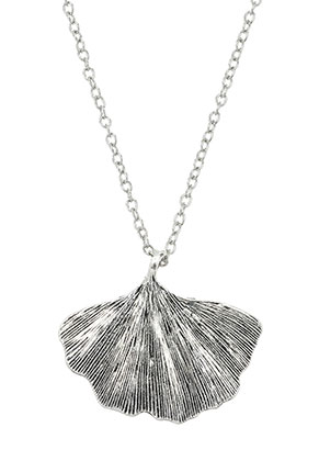 www.misstella.com - Necklace with pendant ginkgo leaf 45-50cm