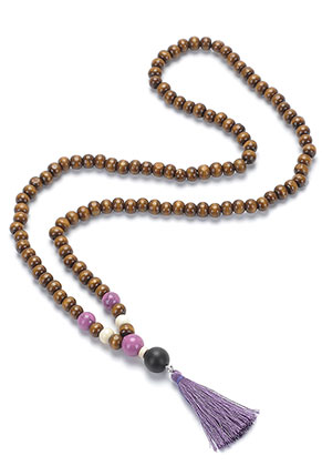 www.misstella.com - Mala necklace with tassel (108 beads) 74cm