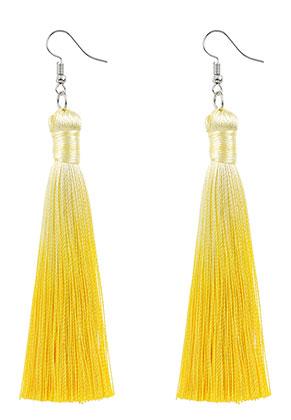 www.misstella.fr - Boucles d'oreilles avec pompons 11x1cm