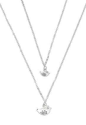 www.misstella.fr - Ensemble de colliers avec pendentif oiseau 45-50cm