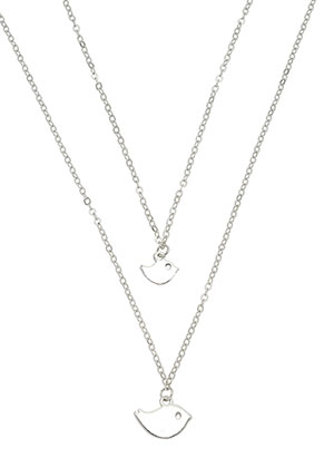 www.misstella.com - Set of necklaces with pendant bird 45-50cm
