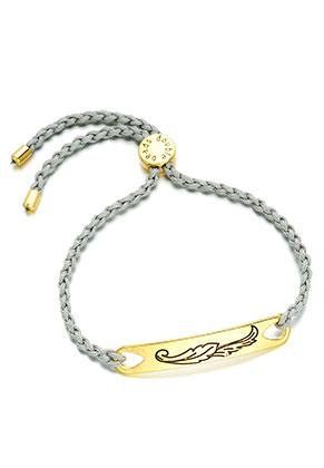 www.misstella.com - Woven bracelet with leaf/feather
