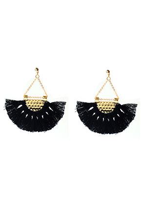 www.misstella.com - Fringe fan earrings 7x6,5cm