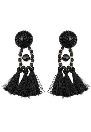 www.misstella.com - Ear studs with tassels 95x30mm
