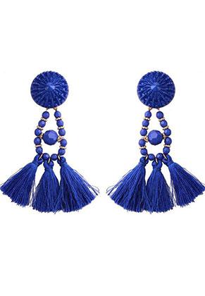 www.misstella.com - Ear studs with tassels 95x30mm