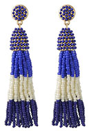 www.misstella.com - Ear studs with tassel of seed beads 9x2cm - J06441