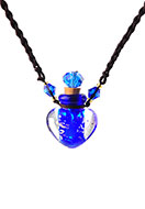 www.misstella.com - Necklace with glass bottle 50-70cm - J06446