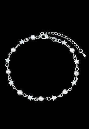 www.misstella.nl - Brass armband/enkelbandje met sterren 19,5-25cm