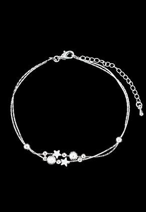 www.misstella.com - Brass bracelet/anklet with stars 21-26cm