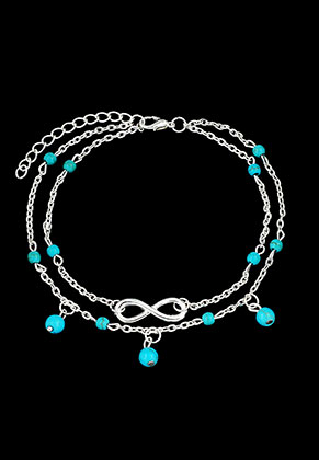 www.misstella.com - Anklet with infinity sign 24-29cm
