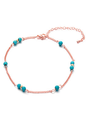 www.misstella.com - Bracelet/anklet with natural stone Turquoise Howlite 22,5-27,5cm