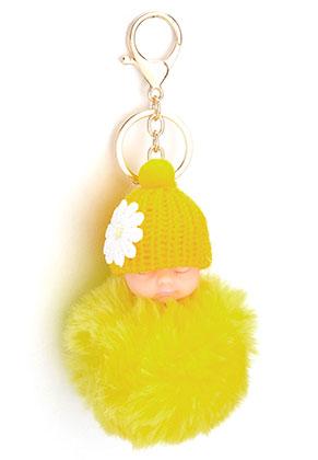 www.misstella.com - Key fob with fluff ball baby