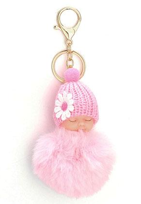 www.misstella.fr - Porte-clés avec boule de peluche bébé