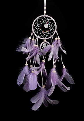 www.misstella.com - Pendant dreamcatcher round with feathers 55x20cm
