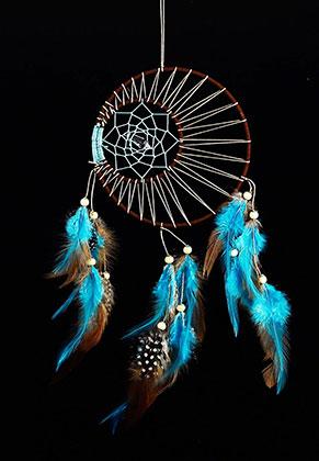 www.misstella.com - Pendant dreamcatcher round with feathers 52x17cm