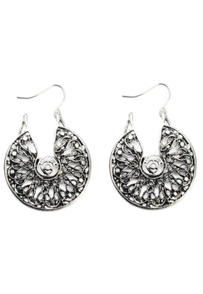 www.misstella.fr - Boucles d'oreilles tribal 54x38mm