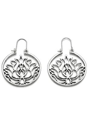 www.misstella.fr - Boucles d'oreilles avec lotus 47x35mm