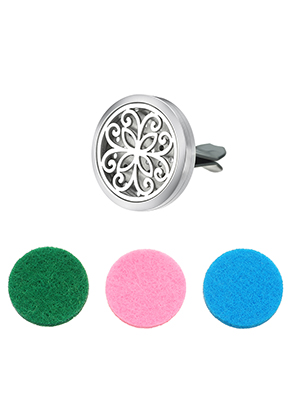 www.misstella.com - Stainless steel car perfume diffuser clip 38x30mm