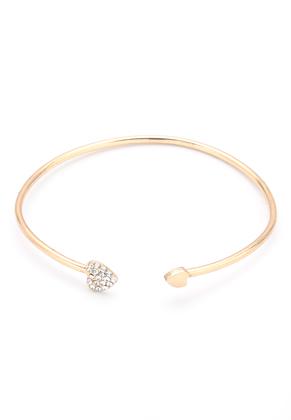 www.misstella.de - Stulpe-Armband mit Herzchen und Strass 21cm