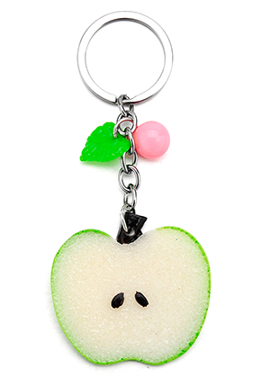 www.misstella.com - Key fob with apple 11,5x5cm