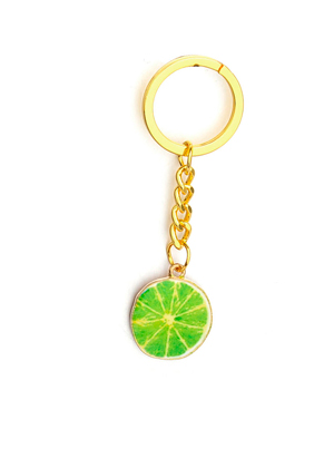 www.misstella.com - Key fob with lime 8x2,5cm