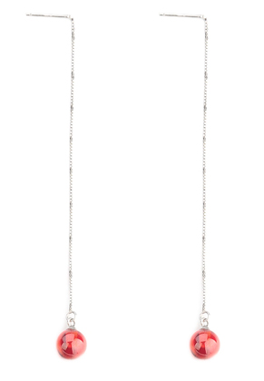 www.misstella.com - 925 Silver ear threads/ear studs with zirconia 90x8mm