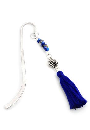 www.misstella.com - Bookmark with tassel and natural stone 13x4cm