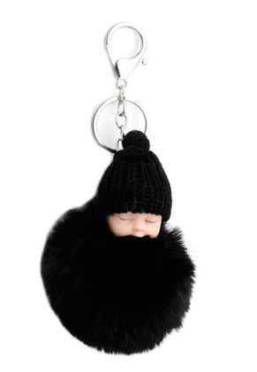 www.misstella.com - Key fob with fluff ball baby