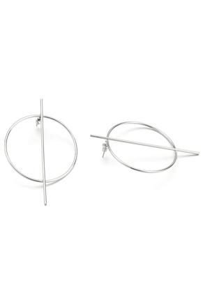 www.misstella.com - Brass ear studs with circle 70x46mm