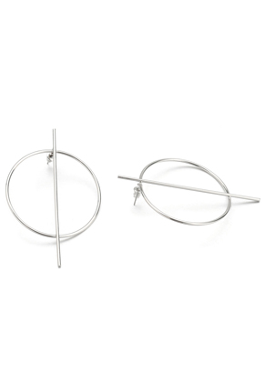www.misstella.fr - Boucles d'oreilles en brass avec cercle 70x46mm