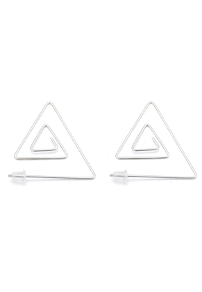 www.misstella.com - Brass ear studs triangle 32,5x29mm