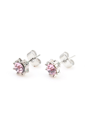 www.misstella.com - Metal ear studs with strass 17x8mm