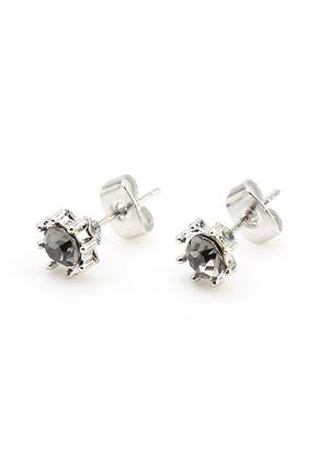 www.misstella.com - Metal ear studs with strass 17x8mm
