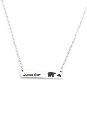 www.misstella.com - Metal necklace with pendant