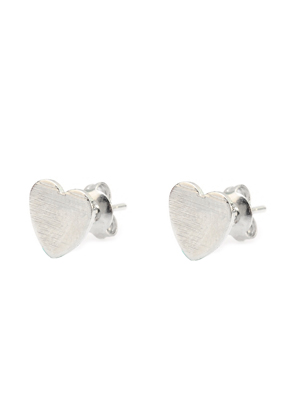 www.misstella.com - Brass ear studs heart 13x6,5mm