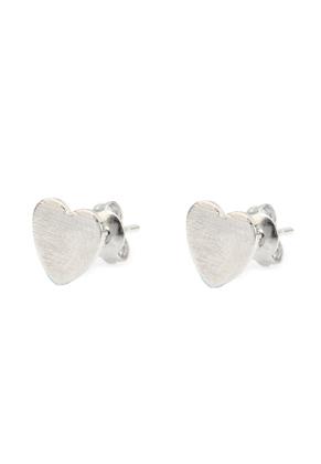 www.misstella.nl - Brass oorstekers hartje 13x6,5mm