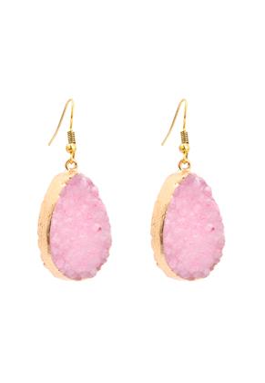 www.misstella.com - Natural stone earrings Crystal 50x20mm