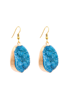 www.misstella.com - Natural stone earrings Crystal 50x20mm
