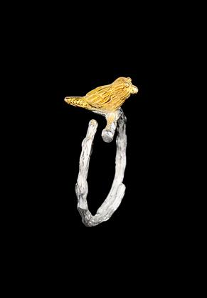 www.misstella.com - Metal ring with bird >= Ø 16mm