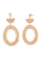 www.misstella.com - Straw ear studs oval 75x38mm - J07262