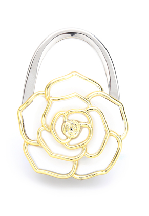 www.misstella.com - Purse hook with synthetic flower 67x47mm