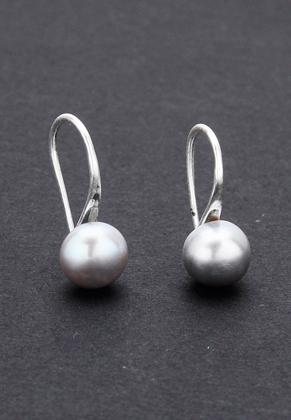 www.misstella.com - Metal earrings with freshwater pearl 18x8mm
