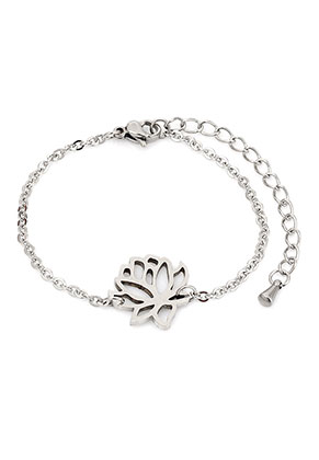 www.misstella.com - Stainless steel bracelet with lotus 17-20cm