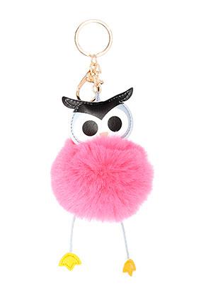 www.misstella.com - Key fob with fluff ball owl