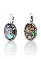 www.misstella.com - Earrings with mother of pearl oval 33x16mm - J07604