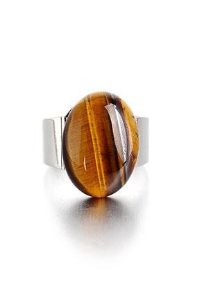 www.misstella.nl - Ring met natuursteen Yellow Tiger Eye >= Ø 18mm