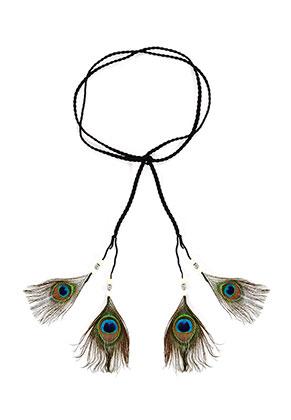 www.misstella.com - Headband with peacock feathers