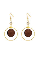 www.misstella.com - Earrings with wooden pendant 72x36mm - J07700