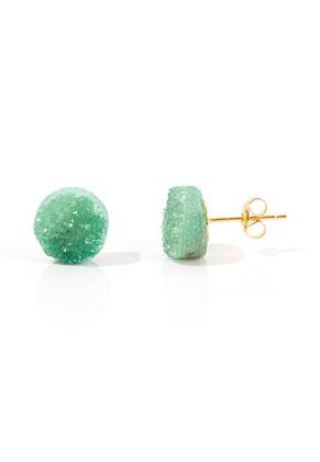 www.misstella.com - Natural stone ear studs Crystal 18x10mm